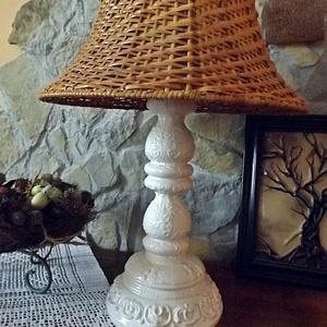 Hófehér indás- romantikus-egyedi kerámia lámpa (ntakeramia) - Meska.hu