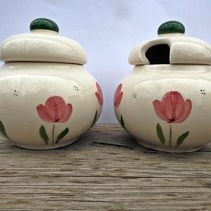 Tulipános méz és cukor tartó  (ntakeramia) - Meska.hu