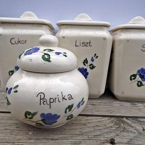 Kerámia kékfestő fűszertartó készlet (ntakeramia) - Meska.hu