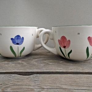Tulipános fél literes  Te + én (ntakeramia) - Meska.hu