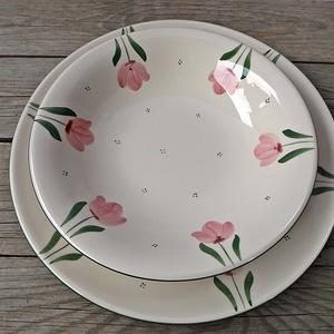 Tulipános  egyedi   étkészlet (ntakeramia) - Meska.hu