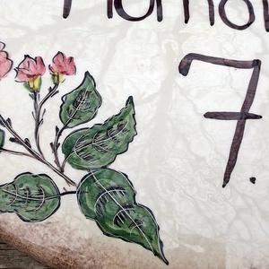 Kerámia egyedi utca és házszám tábla tavaszi virágzás (ntakeramia) - Meska.hu
