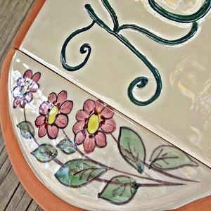 Romantikus tavasz- virágos kerámia utcanévtábla (ntakeramia) - Meska.hu