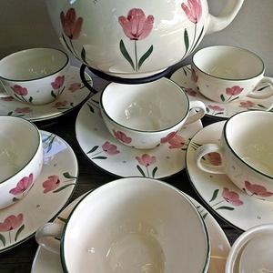 Tulipán imádóknak teás készlet (ntakeramia) - Meska.hu