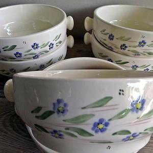 Kék nefelejcs-egyedi kerámia készlet, Otthon & lakás, Lakberendezés, Konyhafelszerelés, Tárolóeszköz, Kerámia, Benedek Elek\n     Nefelejcs\nBólogat a kék nefelejcs\nPici kis virága,\nMinden szálát szeretettel\nKötöm..., Meska