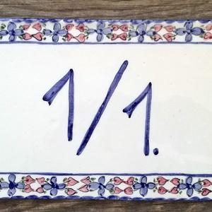 Kerámia kék egyedi házszám (ntakeramia) - Meska.hu