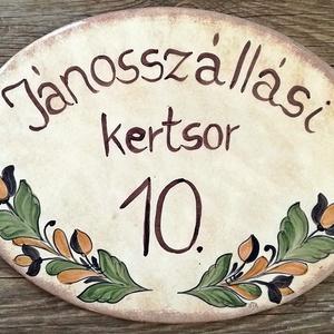 Korondi-ahogy én festem kerámia egyedi utcanév tábla (ntakeramia) - Meska.hu
