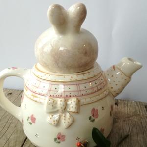 Tulipános tavasz- 2 személyes teás nyuszisan (ntakeramia) - Meska.hu