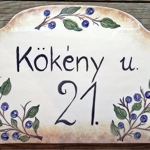 Kék a kökény....Egyedi kerámia házszámtábla (ntakeramia) - Meska.hu