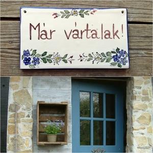 Kikelet-tavaszt hozó kék virágos kerámia (ntakeramia) - Meska.hu