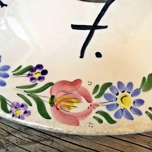 Népi tulipán motívumos kerámia  utcanévtábla (ntakeramia) - Meska.hu