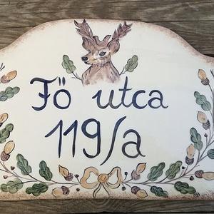 Egy nagy vadásznak-szarvasos utcanév tábla (ntakeramia) - Meska.hu