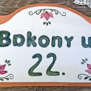 Egyedi kerámia utca és házszámtábla (ntakeramia) - Meska.hu