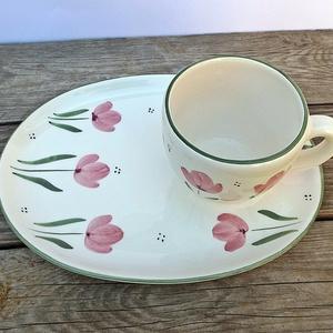 Hej tulipán- tulipán-kerámia reggeliző   (ntakeramia) - Meska.hu