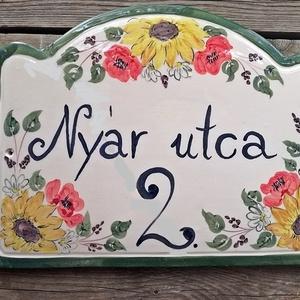 Kerámia egyedi utcanévtábla -házszámtábla nyár (ntakeramia) - Meska.hu