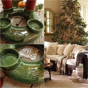 A hagyomány és a zöld tisztelőinek, Otthon & lakás, Dekoráció, Ünnepi dekoráció, Karácsony, Kerámia, 2020 ra rendelhető!!!!!\n\n\n\nA NÉGY GYERTYA\n\nEgyszer volt, hol nem volt, volt egyszer négy gyertya.\nAn..., Meska