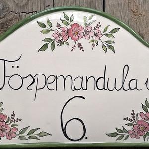 Púder mandulavirág kerámia utcanév-házszám  tábla (ntakeramia) - Meska.hu