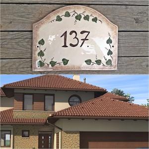 Borostyános egyedi kerámia utca névtábla, Otthon & Lakás, Ház & Kert, Házszám, Kerámia, \n\nEgyedi stílusos utca és házszámtábla.\nMindenhol jó de legjobb OTTHON!\nEgy hosszú fárasztó nap után..., Meska