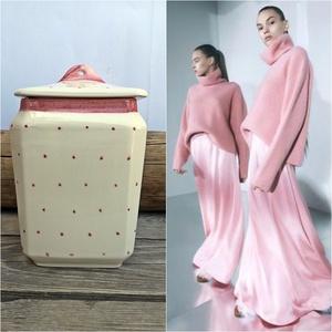 Kerámia pink pöttyösen fűszertartó készlet, Otthon & lakás, Dekoráció, Konyhafelszerelés, Fűszertartó, Kerámia, Festett tárgyak, Lenyűgöző színkombináció lehet a fehér konyhádhoz. Letisztult elegancia - egy pink - fehér páros. Eg..., Meska