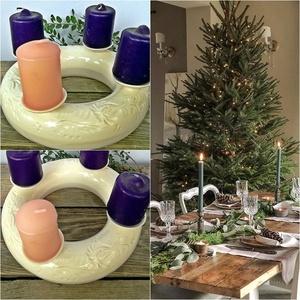 Kerámia koszorú az ünnep tisztelőinek   , Otthon & Lakás, Karácsony & Mikulás, Adventi koszorú, Kerámia, Festett tárgyak, Évek óta készítem ezeket a kerámia koszorúkat, azok a kedves vásárlóim kedvéért akik szeretik az egy..., Meska
