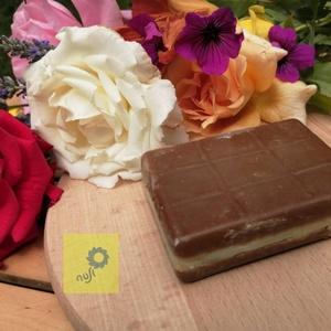 Citrom töltelékes csoki kézműves szappan, Férfiaknak, Borotva, szappan, pipere, Táska, Divat & Szépség, Szépség(ápolás), Krém, szappan, dezodor, Növényi alapanyagú szappan, Egyéb, Furcsaságok, Szappankészítés, Kézzel készített egyedi csoki formájú szappan magas olíva olaj tartalommal, valódi kakaóval, ajándék..., Meska