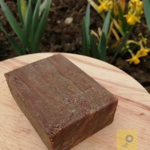 \'Fa\' kézműves szappan szelet, kávés alappal, mandula illattal, tégla alakú, Szépségápolás, Szappan & Fürdés, Szappan, Szappankészítés, Első kísérletem a fa erezet mintás technika alkalmazására, az eredmény leginkább mandulás csokira  e..., Meska