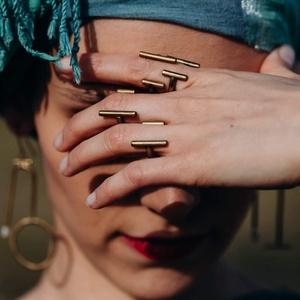 Vonalas gyűrű, Ékszer, Gyűrű, Fémmegmunkálás, Ötvös, Rézből készítem az ékszereket. Tudod réz, ezüst, arany és rose gold színben kérni. Megrendelésre is ..., Meska