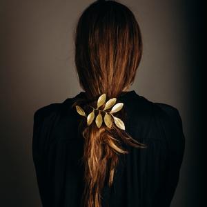 Leveles hajdísz, Esküvő, Ékszer, Ötvös, Fémmegmunkálás, Az ékszert rézből készítem. Nem csak hajdíszként, karkötőként, nyakláncként és bármilyen módon visel..., Meska
