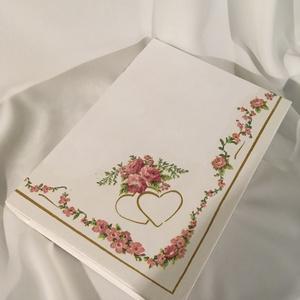"""""""Szerelmünk lapjai""""... könyvdoboz..., Otthon & lakás, Dekoráció, Ékszer, Ékszertartó, Esküvő, Nászajándék, Decoupage, transzfer és szalvétatechnika, Festett tárgyak, Elegáns, pénz átadó dobozka... \nA könyvdobozban ékszereket, leveleket, és emlékeket is gyűjthetnek....., Meska"""