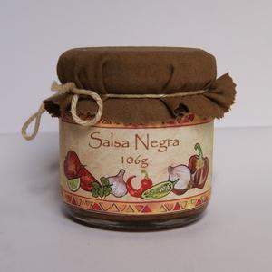 Salsa Negra - Chilis fűszerkrém - 106g, Kulinária (élelmiszer), Fűszer, Élelmiszer előállítás, Ez a salsa különlegesség grillezett zöldségekből (paradicsom, hagymafélék) és chili paprikából, vala..., Meska
