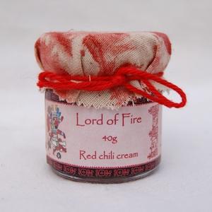 Lord of Fire - piros chilikrém - 40g, Kulinária (élelmiszer), Fűszer, Élelmiszer előállítás, Piros chilipaprikákból készült finomra darált, főzött, extraerős, natúr chilikrém, az egyik legerőse..., Meska