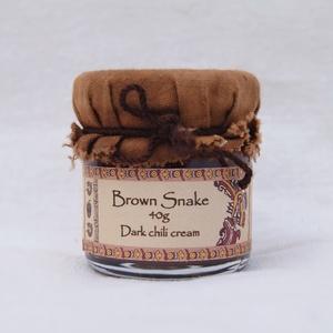 Brown Snake - Barna chilikrém 40g, Kulinária (élelmiszer), Fűszer, Élelmiszer előállítás, Csokoládébarna színű, igen erős natúr chilikrém. A legvisszafogottabb ízű és illatú habanero papriká..., Meska