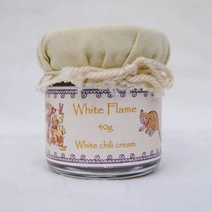 White Flame - fehér chilikrém 40g, Kulinária (élelmiszer), Fűszer, Élelmiszer előállítás, Fehér chilikből (7 pod, naga jolokia, habanero fehér változatai) készített darált, főzött chilikrém,..., Meska
