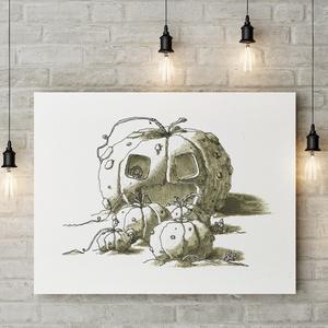 Süniverzum (16/4), Művészi nyomat, Művészet, Festészet, Sziasztok!\n\nKeretezésre kész formában ajánlom figyelmetekbe első gyermekkönyvem illusztrációinak műv..., Meska