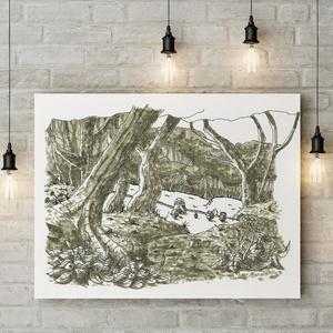 Süniverzum (16/10), Grafika & Illusztráció, Művészet, Festészet, Saját gyermekkönyvem illusztrációinak művészi printjeit ajánlom figyelmetekbe. Az eredeti rajzokat t..., Meska