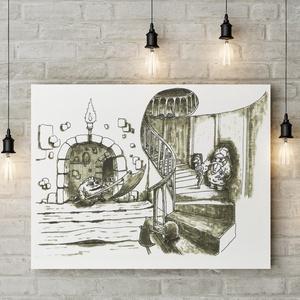 Süniverzum (16/13), Művészi nyomat, Művészet, Festészet, Sziasztok!\n\nKeretezésre kész formában ajánlom figyelmetekbe első gyermekkönyvem illusztrációinak műv..., Meska