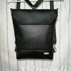 3in1 Textilbőr táska, Táska & Tok, Varrás, Hordható háton , vállon , oldalt , attól függően hová állítod a pántot :-)\nPánt heveder , ami állíth..., Meska