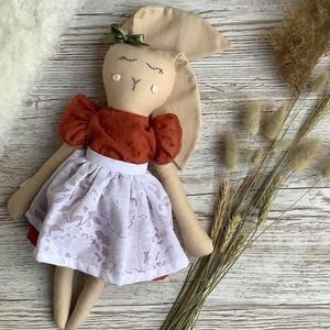 Őszi nyusz lány baba, Játék & Gyerek, Plüssállat & Játékfigura, Nyuszi, Varrás, Meska
