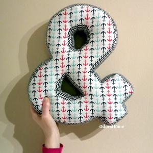 Írásjel párna, textil betű szivaccsal tömött 30cm magas és jel (OdorsHome) - Meska.hu