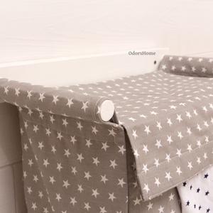 Szennyestartó szürke csillagos, textil zsák - fali szennyes tartó - plüss állat tároló - függő textil kosár - zsák (OdorsHome) - Meska.hu