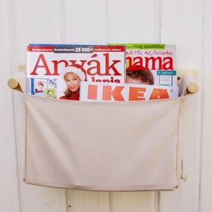 Skandináv stílusban készült, falra szerelhető tároló, fürdőszobai rendszerező, játék tároló, zsák - Meska.hu