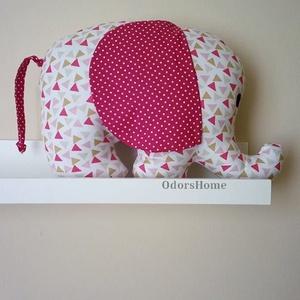 Elefánt textil figura - babajáték - elefántos babaszoba - minky elefánt - puha játék - figurapárna - elefántos (OdorsHome) - Meska.hu