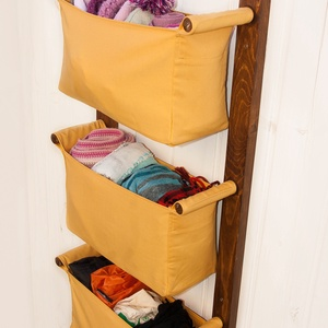HD kollekció Gyerekszobai tároló - Fürdőszobai tárolás - egyszínű erős vászon rekeszekkel, zsákokkal - fakkos szekrény (OdorsHome) - Meska.hu