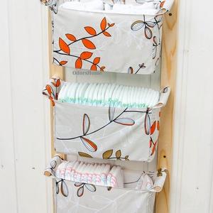PREMIUM textil kínálattal - Fali tároló, nagy falra szerelhető játéktároló, fürdőszobai rendszerező, törölköző tartó, Otthon & Lakás, Tárolás & Rendszerezés, Fali tároló, Famegmunkálás, Varrás, Letisztult skandináv design, praktikus tároló gyönyörű textilekkel. Prémium minőségű deisgner pamutv..., Meska