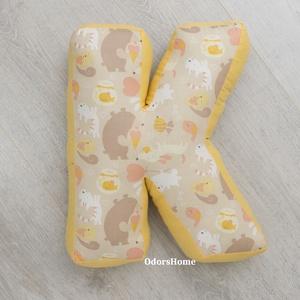 K betűpárna - betű alakú forma párna a baba monogramjával, nevével babafotózáshoz fotózási kellékként, Ruha & Divat, Babafotózási ruha és kellék, Babaruha & Gyerekruha, Betűpárna | K betű forma párna  Szuper ajándékötlet ez a mutatós betűpárna ha babaváró buliba vagy b..., Meska
