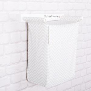 Szennyes tartó menta és fehér színben - fali szennyes tartó - plüss állat tároló - textil zsák - fürdőszobai tárolás (OdorsHome) - Meska.hu