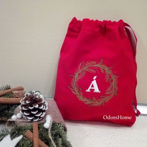 Mikulás zsák, személyre szóló ajándékzsák, Névvel hímzett ajándék tasak, Újrahasználható zsák, modern ajándékzsák, Mikulás, Karácsony & Mikulás, Otthon & Lakás, Hímzés, Varrás, Szeretnéd igazán egyedi Mikulás zsákban átadni idén az ajándékot? Vagy esetleg a Karácsonyi meglepet..., Meska