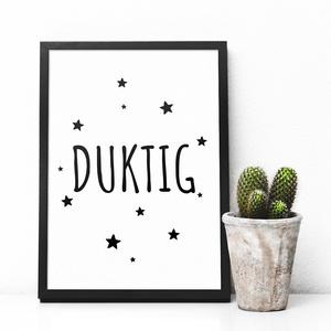 Skandináv stílusú motivációs gyerekszoba dekoráció, falikép, monokróm print, fekete - fehér dekoráció, svéd design, Otthon & Lakás, Kép & Falikép, Dekoráció, Skandináv stílusú, monokróm gyerekszoba fali kép, poszter svéd szöveggel  Anyukaként is nagy rajongó..., Meska