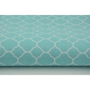 Menta - fehér színű marokkói mintás textil, világos szürke és fehér Moroccan minta, mozaik mintás, Textil, Pamut, 100 pamut textil menta és fehér színben, Marokkói mozaik mintás  Anyagszélesség: 160 cm Anyagvastags..., Meska