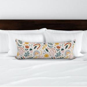 Hálószobai díszpárna - extra hosszú francia ágyra tehető díszpárna 90cm x 30cm designer textilekkel, Párna & Párnahuzat, Lakástextil, Otthon & Lakás, Varrás, Hímzés, Dobd fel a hálószobádat egy stílusos díszpárnával, ami egyedi méretű és a színösszeállítás garantált..., Meska